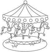 line-art-merry-go-round-stock-illustration__k5222647